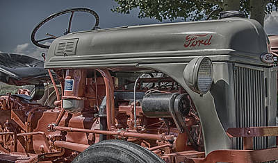 Photograph - Ford Tractor Antique by John Brink