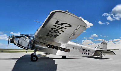 Ford Trimotor Photograph - Ford Tri-motor by Michael Daniels
