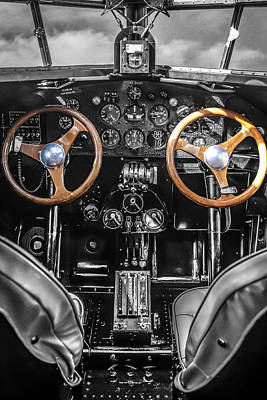 Ford Trimotor Photograph - Ford Trimotor Cockpit by Chris Smith