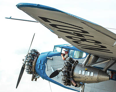 Ford Trimotor Photograph - Ford Trimotor by William Krumpelman
