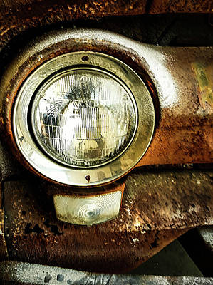 Photograph - Ford Truck Headlight by Elijah Knight