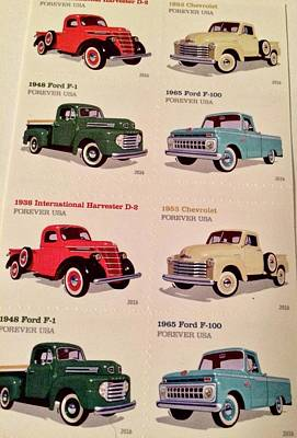 Photograph - Ford Truck Stamps by Caroline Stella