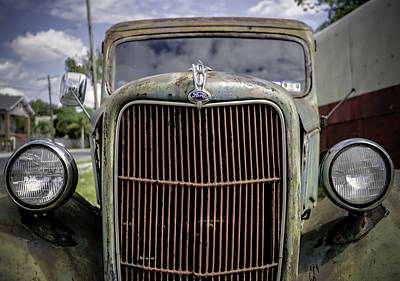 Photograph - Ford V8 by Printed Pixels