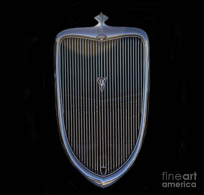 Photograph - Ford V8 Grill by Steven Parker