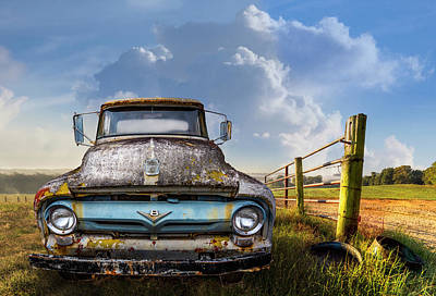 Photograph - Ford V8 On The Farm by Debra and Dave Vanderlaan