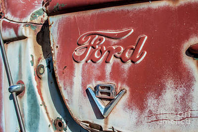 Photograph - Ford V8 by Tony Baca