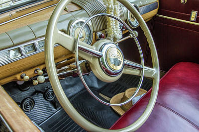 Old Woody Station Wagon Wall Art - Photograph - Ford Woody Dash by Mike Burgquist