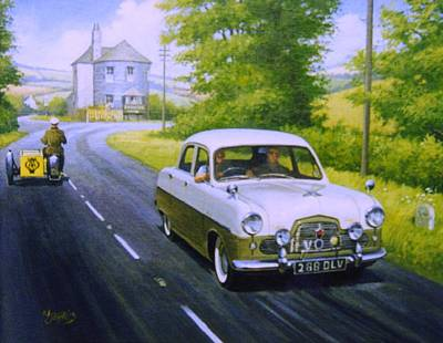 Painting - Ford Zephyr Mk 1  by Mike Jeffries
