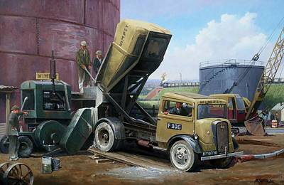 Painting - Fordson Cement Truck. by Mike Jeffries