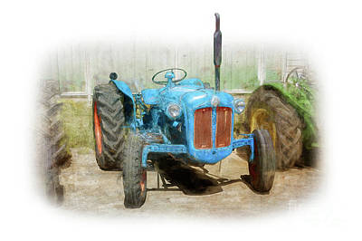Photograph - Fordson Dexta Tractor by Stuart Row