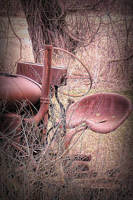 Photograph - Fordson Tractor Seat by Leslie Montgomery