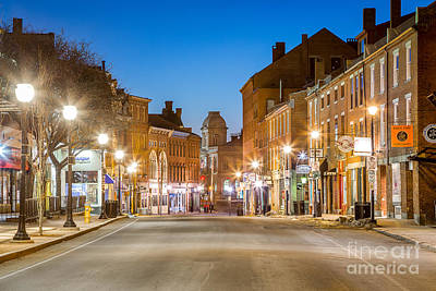 Fore Street Portland Maine Art Print by Benjamin Williamson