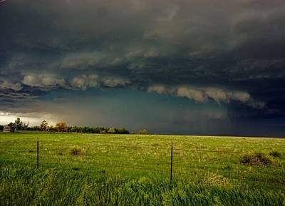 Photograph - Foreboding Skies At The Ranch by Ed Sweeney