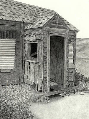Ghost Towns Drawing - Foreclosed by Denny Adams