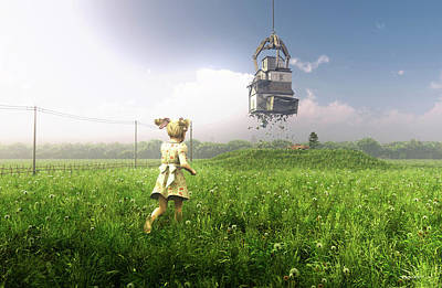 Meadow Digital Art - Foreclosure by Cynthia Decker