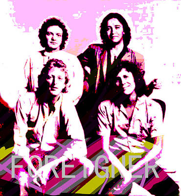 Foreigner Poster  Original by Enki Art