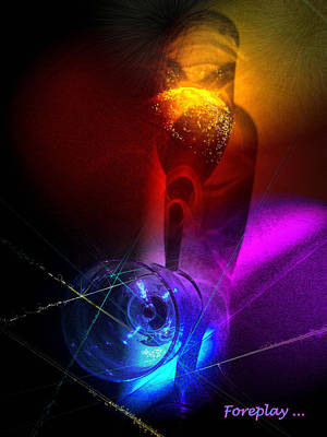 Art Miki Digital Art - Foreplay by Miki De Goodaboom