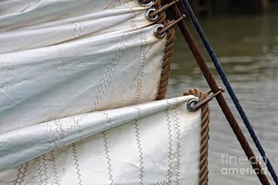 Photograph - Foresail Vintage Sail Ship by Jan Brons
