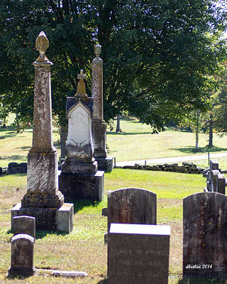 Photograph - Foreside Cemetery 3 by Dick Botkin