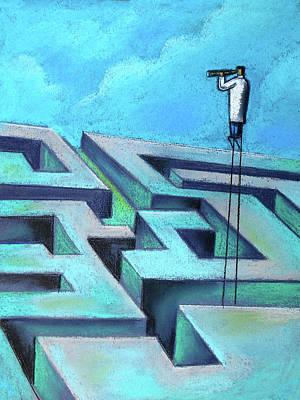 Painting - Foresight by Leon Zernitsky