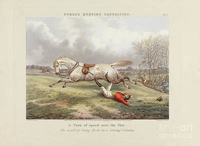 Sporting Mixed Media - Fores's Hunting Casualties by John Harris - Henry Alken