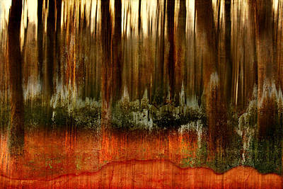 Fantasy Tree Mixed Media - Forest Abstract by Heike Hultsch