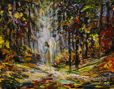Painting - Forest Angel by Dariusz Orszulik