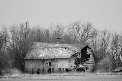 Photograph - Forest Avenue Barn Bw by Bonfire Photography