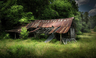 Old Rustic Building Wall Art - Photograph - Forest Barn by Marvin Spates