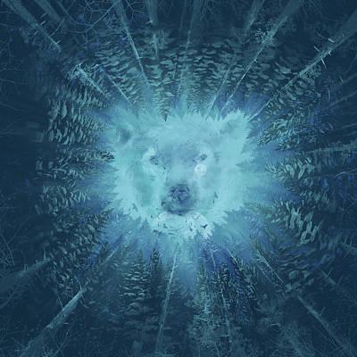 Digital Art - Forest Bear by Bekim Art