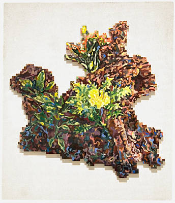 Lego Mixed Media - Forest Bouquet by Karl Frey