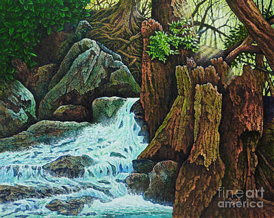 Painting - Forest Brook IIi by Michael Frank