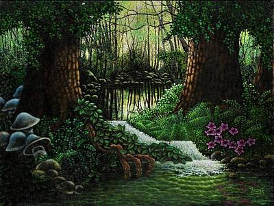 Art Print featuring the painting Forest Brook by Michael Frank