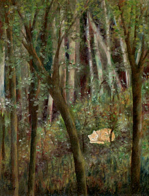 Painting - Forest Cat by FT McKinstry