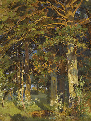 Clearing Painting - Forest Clearing by Ivan Shishkin