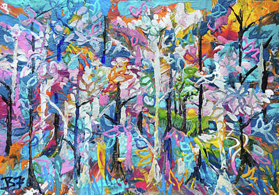 Painting - Forest Clearing by Jean Batzell Fitzgerald