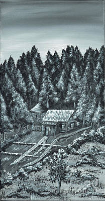 Painting - Forest Cottage by Kenneth Clarke