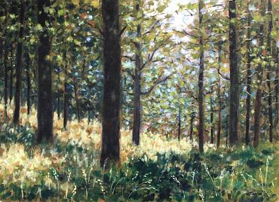 Irish Landscape Painting - Forest- County Wicklow - Ireland by John  Nolan