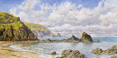 Rocks. Tidal Pool Painting - Forest Cove by John Brett