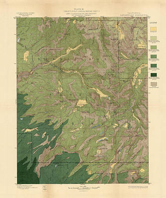 Royalty-Free and Rights-Managed Images - Forest cover map 1886-87 - Dardanelles Quadrangle - California - Geological Map by Studio Grafiikka