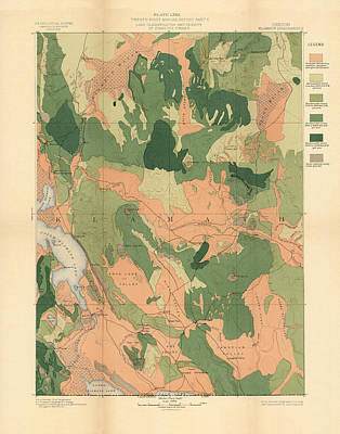 Royalty-Free and Rights-Managed Images - Forest cover map 1886-87 - Oregon Klamath Quadrangle - Geological Map by Studio Grafiikka