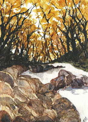 Painting - Forest Creek I by Garima Srivastava