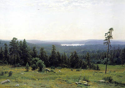 Russian Art Painting - Forest Distance by Ivan Shishkin