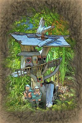 Digital Art - Forest Dwelling by John Haldane