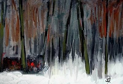 Digital Art - Forest Edge In Winter by Jim Vance