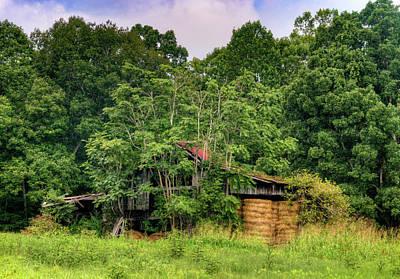 Photograph - Forest Engulfed Hay Barn by Douglas Barnett
