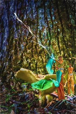 Forest Fairies Art Print by John Haldane
