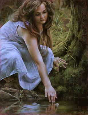 Wall Art - Painting - Forest Fairy 2 by Arthur Braginsky