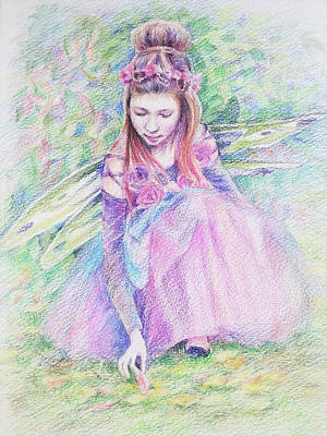 Drawing - Forest Fairy by Svetlana Nassyrov