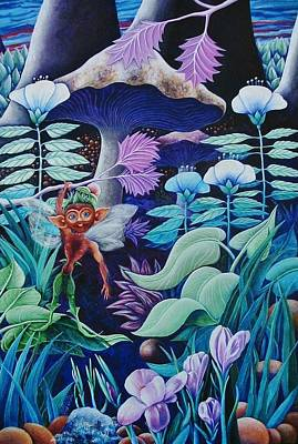 Make Believe Painting - Forest Fantasy-sold by Lou Cicardo